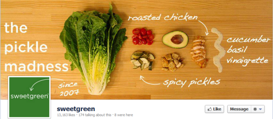 Sweetgreen Facebook Timeline Cover Photo and Profile Picture